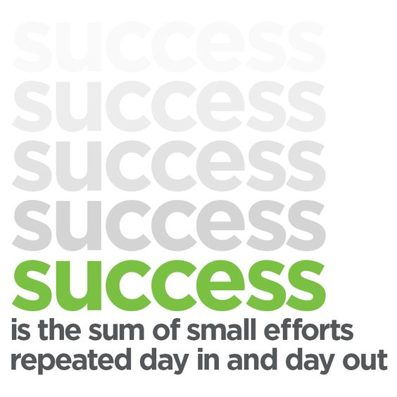 Image result for success is the sum of small efforts