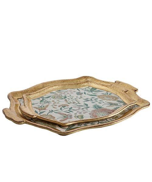 صوانى تقديم ايطالى منقوشة Tray Decorative Tray Decor