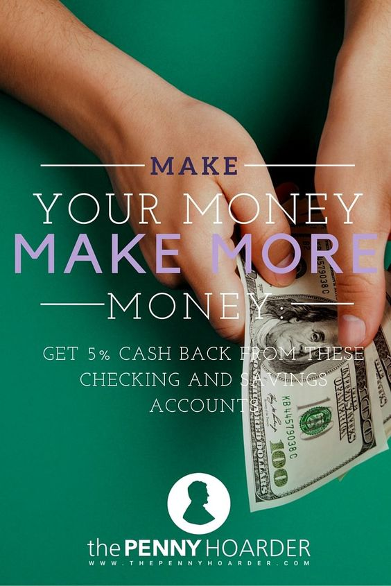 You might think you're doing well if you make even 1% interest on your savings account. But, what if you could turn your regular checking and savings accounts into high-interest accounts? - The Penny Hoarder http://www.thepennyhoarder.com/checking-and-savings-high-interest-accounts/ make money from home, ways to make money at home