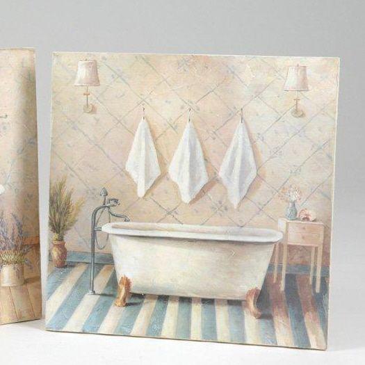 Toile D Co Salle De Bain Elise Tableaux D Co Pinterest