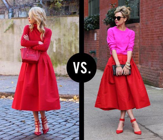 Monochrome vs. Colorblock (Images via Atlantic-Pacific). Love them both!