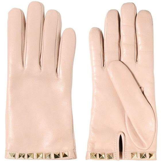 VALENTINO Around Studs Nappa Leather Gloves