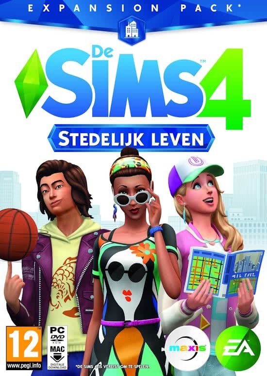 De Sims 4 Stedelijk Leven Expansion Pack Windows Mac Code In Box Sims 4 City Living The Sims 4 Packs Sims 4 Expansions