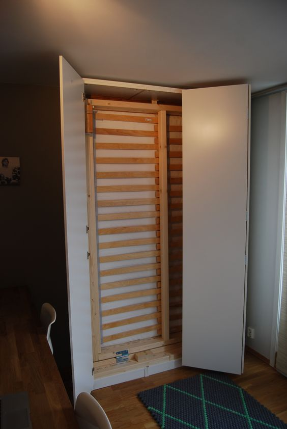 Diy Murphy Bed Cabinets And Construction On Pinterest