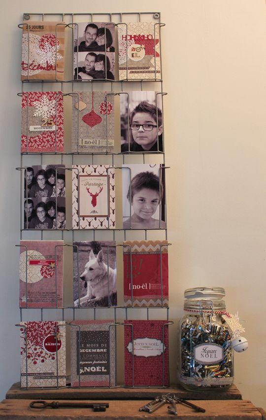 pr sentoir cartes postales fa on calendrier de l 39 avant j. Black Bedroom Furniture Sets. Home Design Ideas