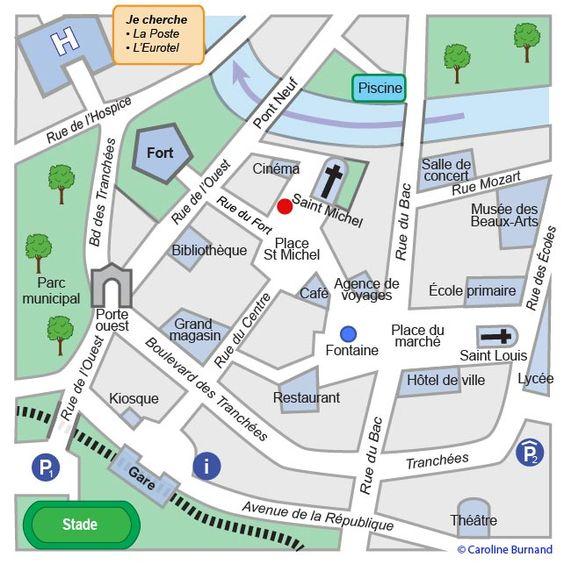 Plan de ville cliquer pour agrandir fle pinterest for 42 ecole piscine