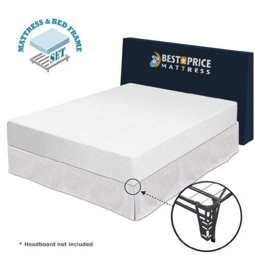 Best Price Mattress Twin Size 10 Memory Foam Mattress Bed Frame Box S Review Memory Foam Mattress Bed Frame Bed Frame Sets Foam Mattress