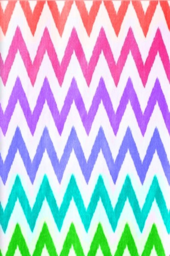Rainbow chevron wallpaper pattern