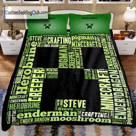 Minecraft Creeper Bedding Set Duvet Cover Blanket Https