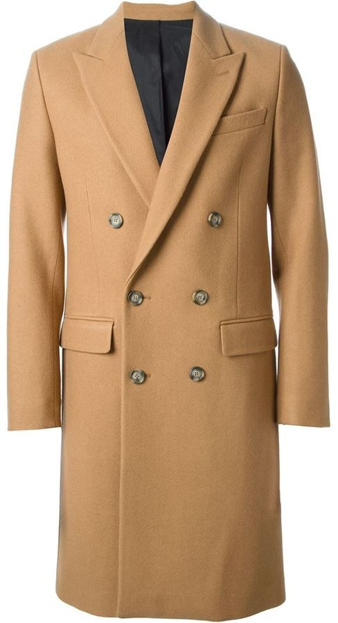 Camel Overcoat by Ami. Buy for $842 from farfetch.com