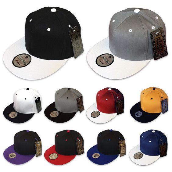 NEW PLAIN SNAPBACK STATE PROPERTY CLASSIC BASEBALL CAP FLAT PEAK FITTED TONE HAT