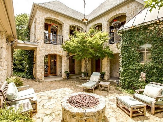 House Spanish Style Courtyard Home Plans Transforming