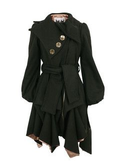 JOLABY // WANT! Chocolate Three Button Coat Jolaby - womens