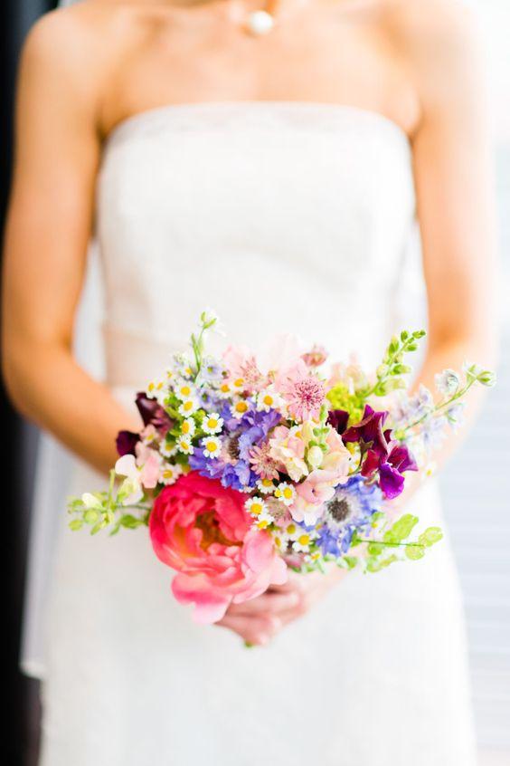 Bruidsboeket zomer inspiratie bruiloft en blog - Wat zijn de warme kleuren ...
