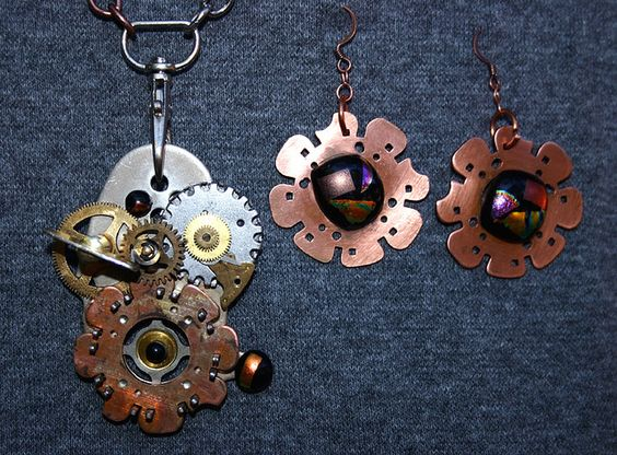 amazing handmade copper jewelry / All Geared Up - Mechanical...