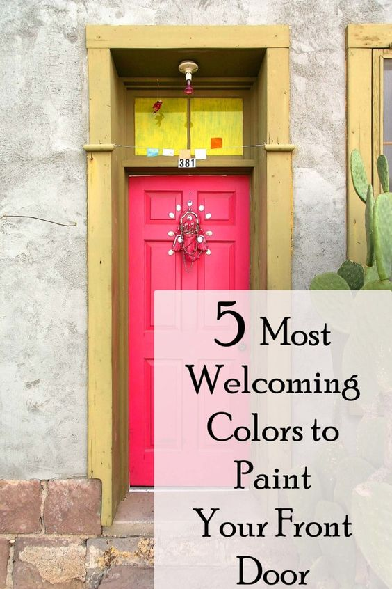The 7 Most Welcoming Colors For Your Front Door