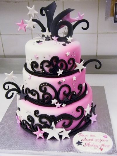 Sweet sixteen birthday cake By buttercreamfantaisies on CakeCentral.com