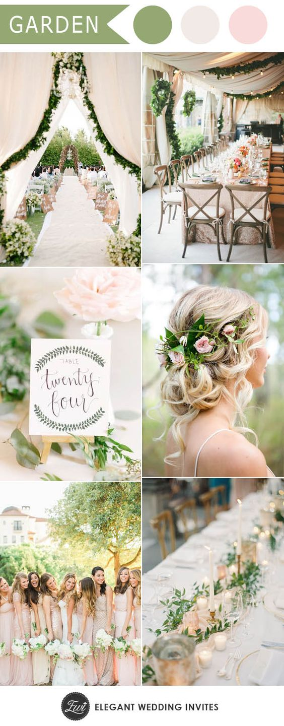 Top 5 greenery wedding color combos for 2017 spring trends | Elegant ...