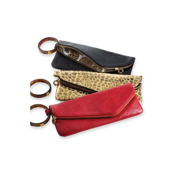 Classic Cuff Clutch ($21) ❤ liked on Polyvore featuring bags, handbags, clutches, leopard print handbags, vegan leather purse, flap handbags, fold over purse and flap purse