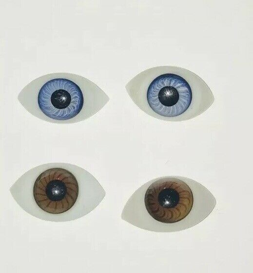 Lot Of 335 Antique Doll Eyes Paper Weight Blown Glass Blue Brown Spiral 20 29mm Doll Eyes Glass Blowing Antique Dolls