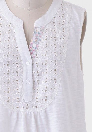 Sun Drenched Eyelet Top