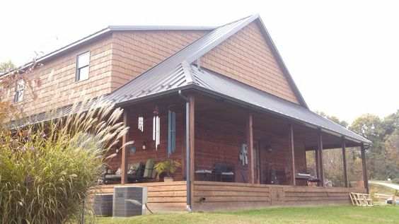 Burnished Slate Union Corrugating 26 Gauge Galvalume Standing Seam Metalroofing Metal Roof Roof Colors Standing Seam
