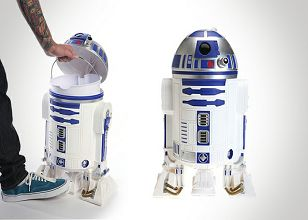 Cool star wars r2 d2 wastebasket fun pinterest war stars and love this - Cool wastebaskets ...
