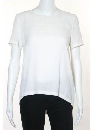 TOPSHOP White Half Zipper Back Short Sleeve Scoop Neck Blouse Sz 4 https://t.co/n9dq9OwXEy https://t.co/TcQBZ2LiMb