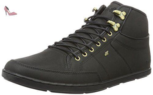 Boxfresh Swich Prem ICN Lea, Sneakers Hautes Homme, Gris (Mgry/Grif Gry), FR. 41 EU (7 UK)