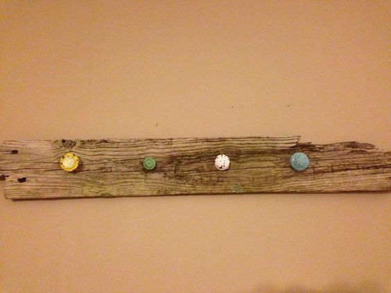 Old barn wood and knobs..