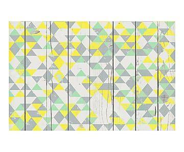 Alfombra vinílica Triángulos - amarillo