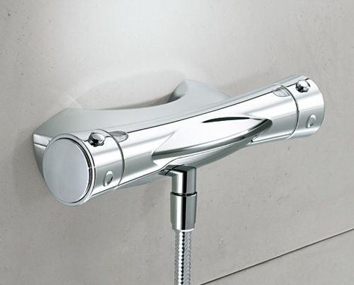 Mischbatterie für Badewanne / Wandmontage / aus Messing / aus Chrom HANSATWISTER: 58122101 by Bruno Sacco & Reinhard Zetsche HANSA