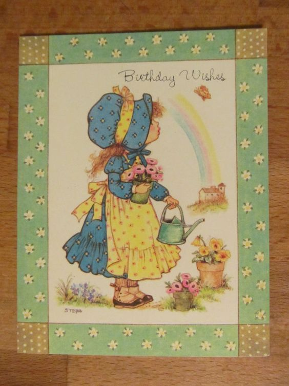 Vintage Bonnets And Blessings Birthday Card Old Fashioned Girl And