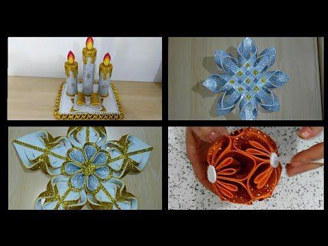 أعمال فنية بورق الفوم أفكار جميلة للكريسماس Diy Christmas Decorations Navidad Christmas Navidad Origami
