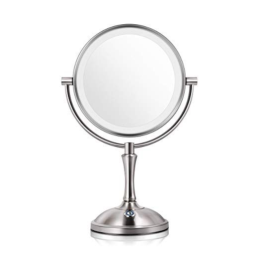 Makeup Mirror With Lights Lighted Makeup Mirror Led Vanity Mirror 7x Magnifying Magnified Double Sided Makeup Mirror Adjustable Cool White Light Mirror Large Ma Makeup Mirror With Lights Mirror With Lights