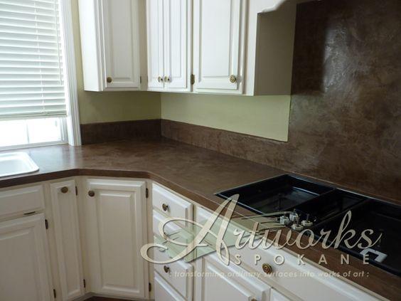 Laminate Kitchen Backsplash Overlays Decorative Concrete And Concrete Countertops On