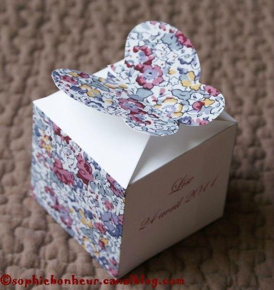 diy tuto boite drag es contenant drag es papillon liberty d co de tables f tes et. Black Bedroom Furniture Sets. Home Design Ideas