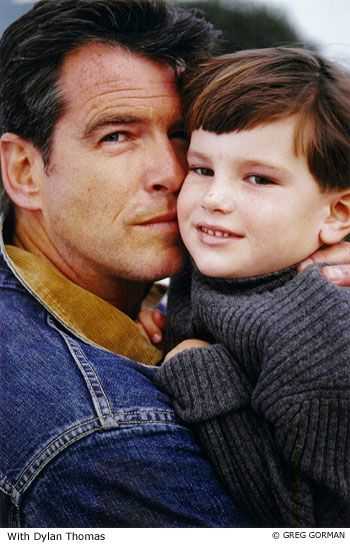 Pierce Brosnan and Dylan Thomas