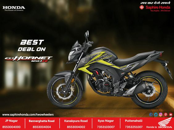 Look Fierce And Ride Even More Fiercely With Honda Cb Hornet 160r