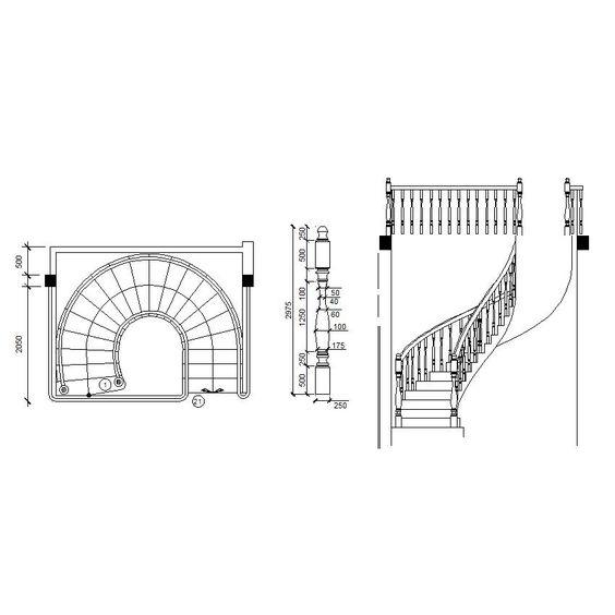 Download free 2d cad interior design for Spiral stair cad