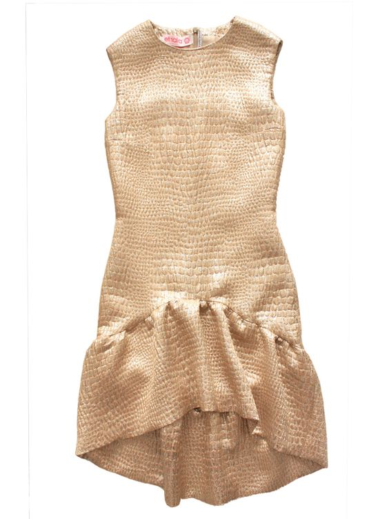 Gold Evening Dress, £395.00 Handmade in London from 100% natural fabrics #ethical #exclusive #womenswear