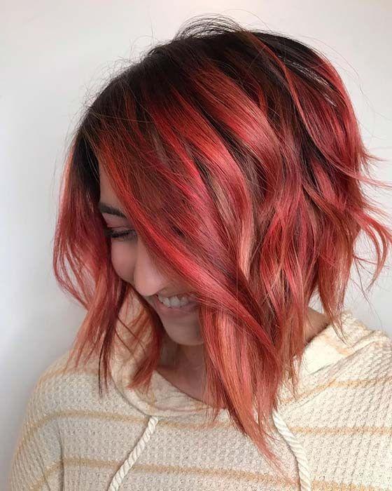 23 Rote Und Schwarze Haarfarbe Ideen Fur Mutige Frauen Frisuren