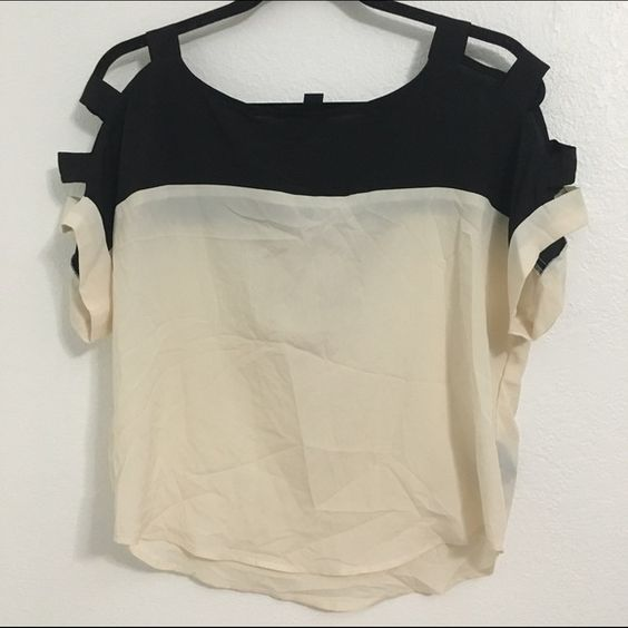 FOREVER 21 TOP Sheer top with shoulder cutouts shown in 3rd picture                                                                             NO TRADES BUNDLE DISCOUNTS, 15% off 2 or more items FAST SHIPPER Forever 21 Tops