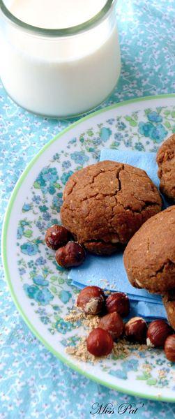 Cookies noisette, farine de gaudes