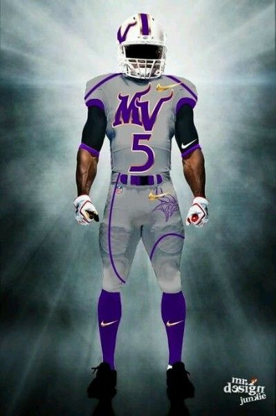 Examples of what new Minnesota Vikings uniforms might look like