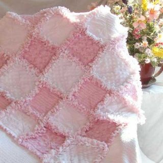 Baby Girl Rag Quilt Tiny Roses