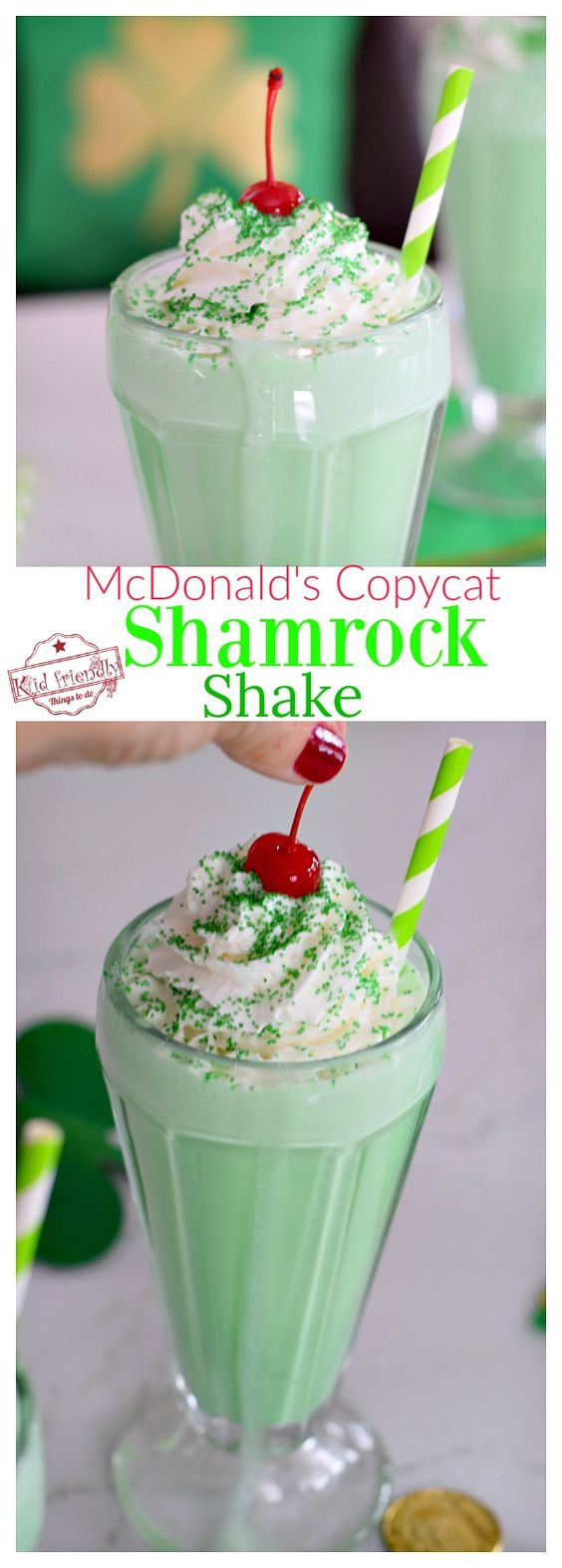 Easy {McDonald's Copy Cat} Shamrock Shake Recipe | Kid Friendly Things To Do