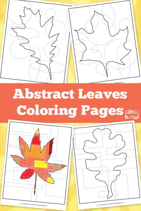 Abstract Leaves Coloring Pages   Colorante, Imprimir gratis y Hojas