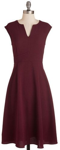 Everly Clothing Job Swell Done Dress in Burgundy