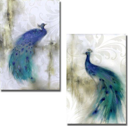 Jewel Plumes I & II by J. P. Prior 2-pc Premium Stretched Canvas Set (Ready to Hang) Artistic Home Gallery http://www.amazon.com/dp/B00G85LZUU/ref=cm_sw_r_pi_dp_86tLtb1DBBVXGNER